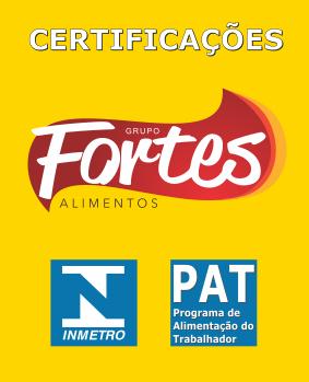 Empresa fornecedora de cestas básicas  - Grupo Fortes Alimentos - Certificações